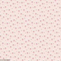 Coupon de tissu jersey - Lièvre détails Métallisés - Fond Rose pâle - 70 x 100 cm