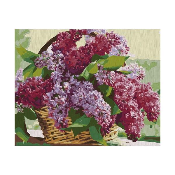 kit de peinture par num ros bouquet de lilas 40x50 cm. Black Bedroom Furniture Sets. Home Design Ideas