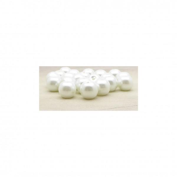 Perles verre nacré 8mm blanc par 20 - Photo n°1