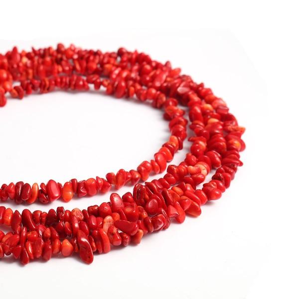 acheter en ligne 466f9 b7242 1 Enfilade de 300 Perles Corail irrégulière Rouge-Environ 5-11mm- Création  Bijoux - SC0118049