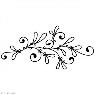 Tampon Bois Artemio - Gui élégant - 7 x 3,5 cm