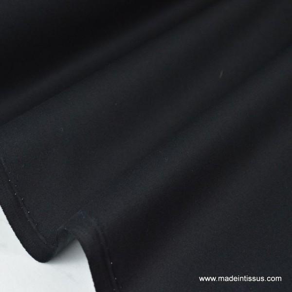 Tissu gabardine sergé coloris noir - Photo n°1
