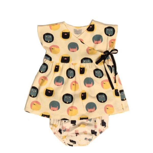 Patron robe Kimono et culotte pour bébé Katia Fabrics - Photo n°1