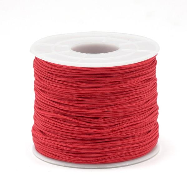 3M fil polyester rouge 0.5mm - miyuki , macramé , shamballa ... 700 - Photo n°1