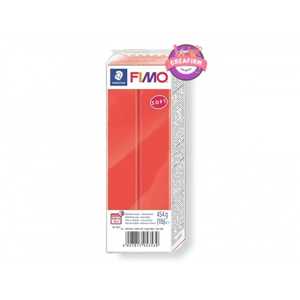 Pâte Fimo Soft 454g Rouge Indien N°24 - Photo n°1