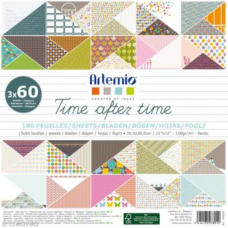 Papier scrapbooking Artemio - Time after time - 30,5 x 30,5 cm - 180 feuilles