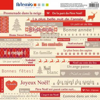 Stickers Artemio - Textes Jacquard - 1 planche - 30 x 30 cm
