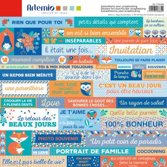 Stickers Artemio - Graphic Time - 1 planche - 30 x 30 cm