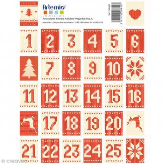 Stickers timbre décoratif - Jacquard - 3,4 x 2,3 cm