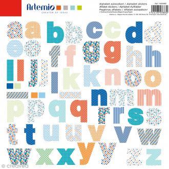 Stickers Alphabet Artemio - Graphic Time - 2 planches de 30,5 x 30,5 cm - 104 pcs
