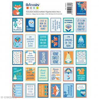 Stickers timbre décoratif - Graphic Time - 3,4 x 2,3 cm