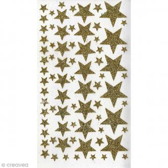 Stickers Etoiles paillettes Artemio - Or