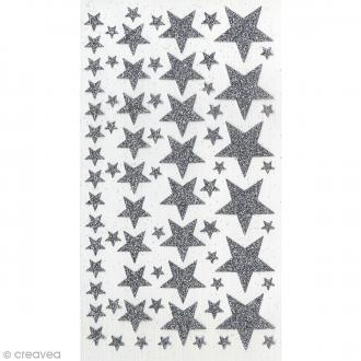 Stickers Etoiles paillettes Artemio - Argenté
