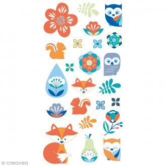 Stickers Artemio Puffies - Graphic Time - Animaux, nature - 23 pcs