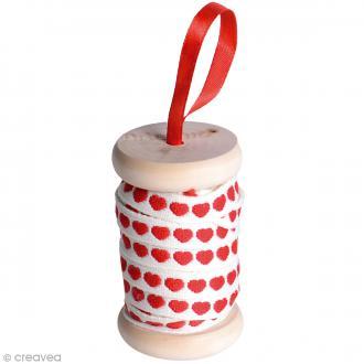 Ruban Artemio - Coeurs rouges - 1 cm x 5m