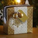 Etiquette cadeaux paillettes or et argent - 5 x 9 cm - 20 pcs - Photo n°2