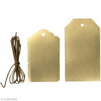 Etiquette cadeaux classique Or - 7,6 cm et 9,2 cm -12 pcs