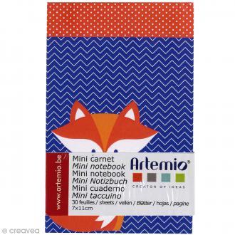Mini carnet scrapbooking Grafic Time 7 x 11 cm - 30 feuilles
