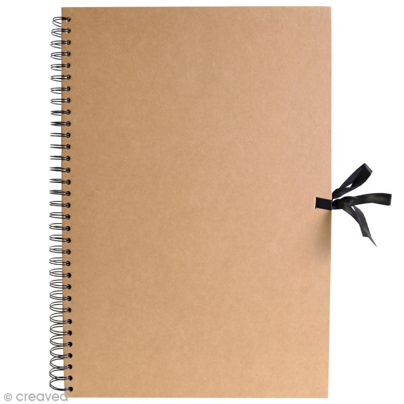 Album spirales Kraft - 29,7 x 42 cm - 40 pages Kraft - Photo n°1
