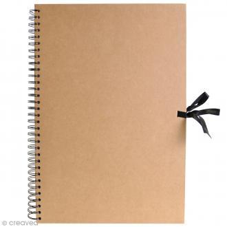 Album spirales Kraft - 29,7 x 42 cm - 40 pages Kraft