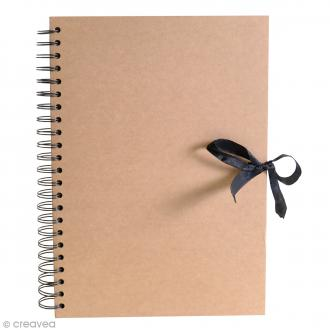 Album spirales Kraft - 21 x 29,7 cm - 40 pages Kraft
