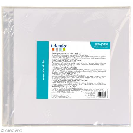 Pochettes transparentes album photo 30 5 x 30 5 cm 10 - Pochettes plastiques transparentes ...