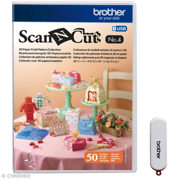 Logiciel de motifs Scan'N'Cut - Patrons 3D - N° 4 - 50 motifs - Photo n°1