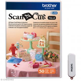 Logiciel de motifs Scan'N'Cut - Patrons 3D - N° 4 - 50 motifs
