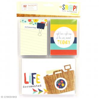 Assortiment cartes Snap Simple Stories - SNAP life documented - 152 pcs