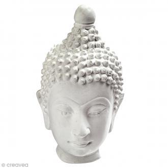 Grande tête Bouddha en plâtre - Collection Bouddha Hindi