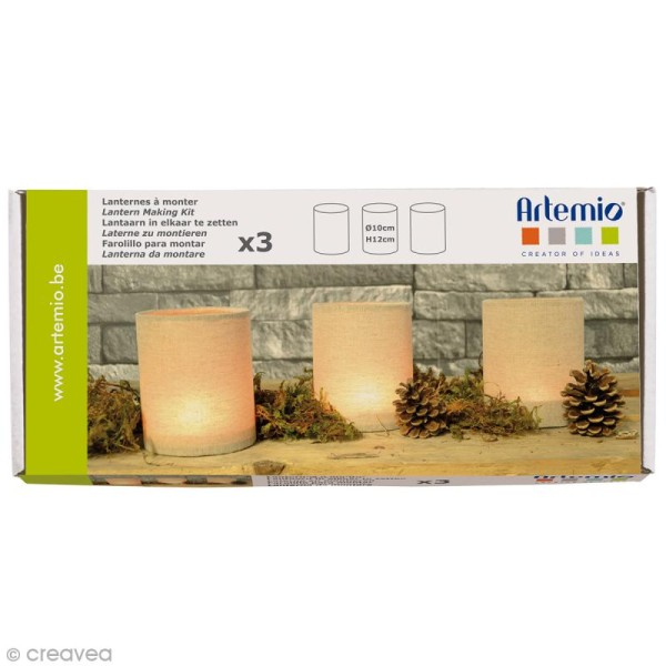 Kit Lanternes à monter Artemio - 3 pcs - Photo n°1