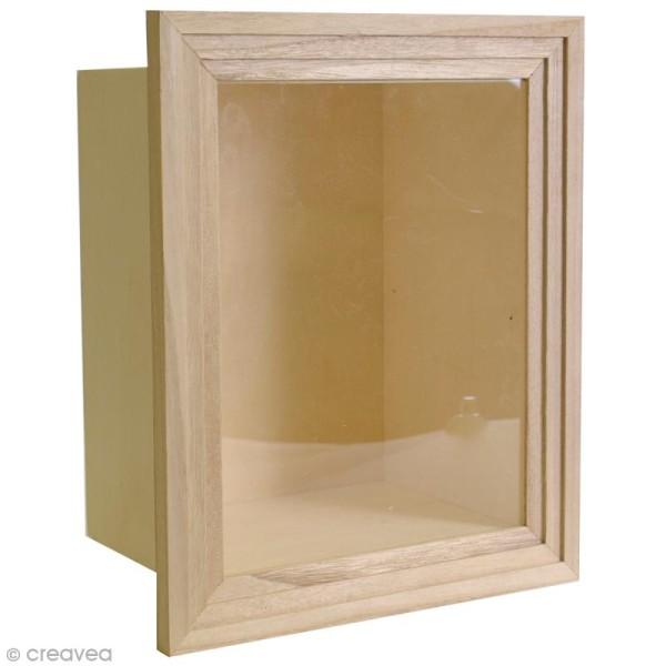 Vitrine en bois à décorer - 28,5 x 23,5 cm - Photo n°1