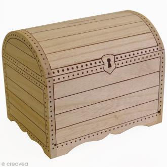 Tirelire Coffre en bois à décorer - 15 x 11 x 12,5 cm