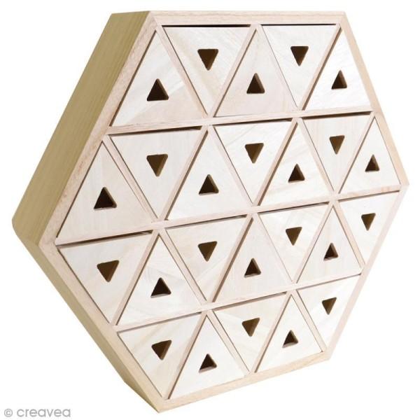 Calendrier de l'Avent en bois à décorer - Hexagone - 36,5 cm - Photo n°1