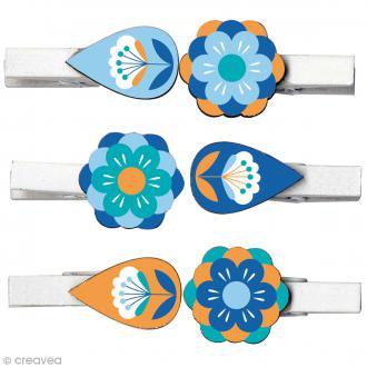 Pince à linge décorative - Grafic Time - 6 pcs