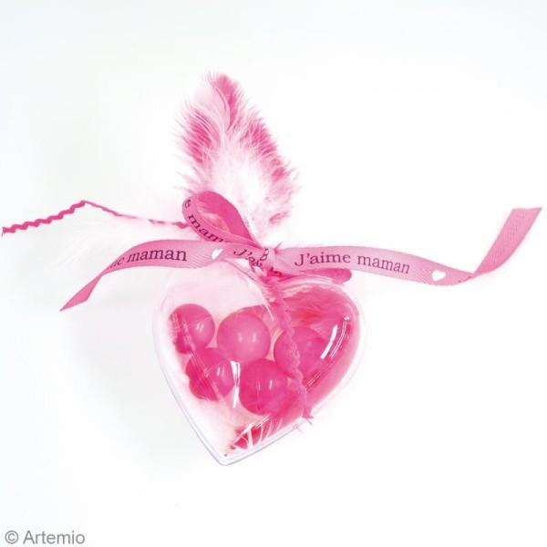Assortiment de Coeurs  en plastique transparent - 6 pcs - 8 cm - Photo n°2