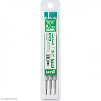 Recharge Encre effaçable Stylo UniBall Signo TSI - Vert - 0,7 mm - 3 pcs