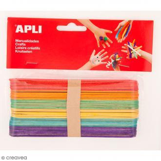 Bâtonnets en bois - Multicolores - 150 x 18 mm - 40 pcs