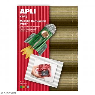 Lot de carton ondulé Apli - Métallisé - 29,7 x 21 cm - 4 pcs