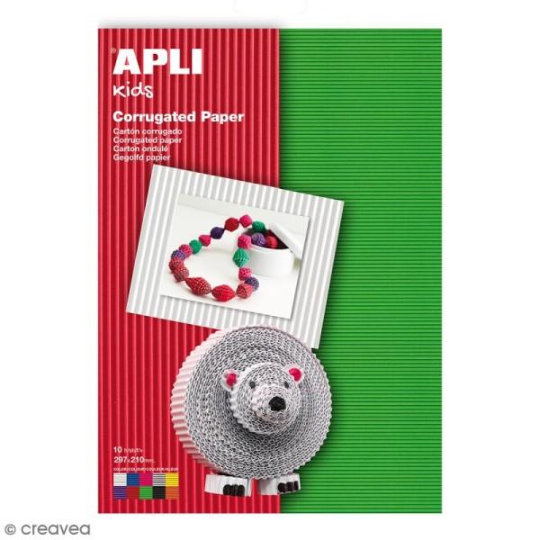 Lot de carton ondulé Apli - Couleurs - 29,7 x 21 cm - 10 pcs - Photo n°1