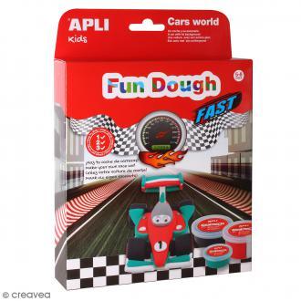 Kit pâte à modeler Apli fun dough - Voiture de course - Dès 5 ans