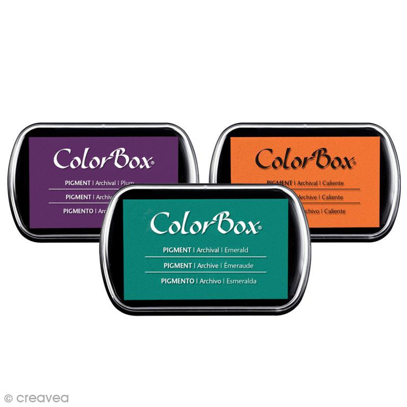 Encreur Colorbox - 36 couleurs - 7,5 x 4,5 cm - Photo n°1