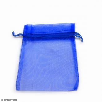 Sachets organza Bleu - 10 x 12 cm - 90 pcs