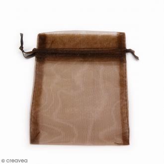 Sachets organza Marron chocolat - 10 x 12 cm - 90 pcs