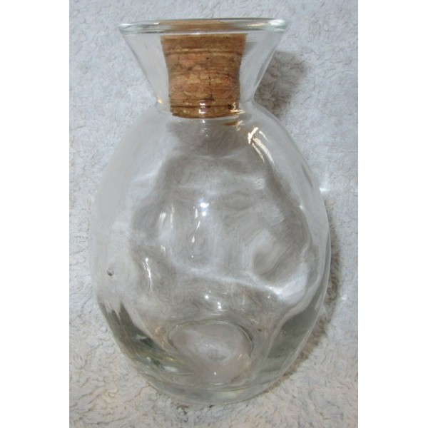 Lot de 2 Vases en verre avec bouchon à décorer 6,8x10,4h cm - Photo n°2
