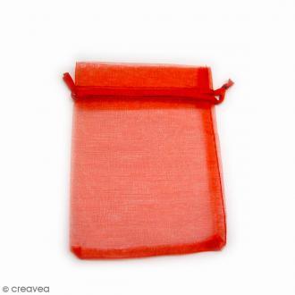 Sachets organza Rouge - 10 x 12 cm - 90 pcs
