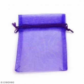 Sachets organza Violet - 10 x 12 cm - 90 pcs