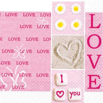 Serviette en papier Mariage I love you