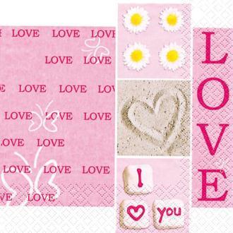 Serviette en papier Mariage I love you
