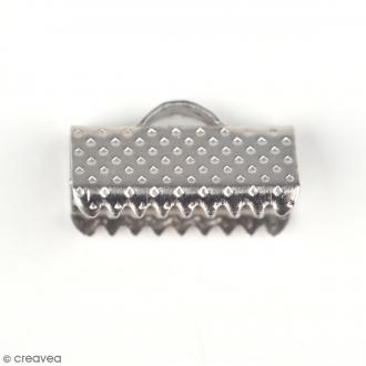 Embouts rubans 13 mm - Gris argentés vieillis - 10 pcs